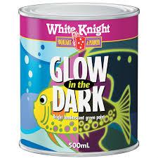 White Knight 500ml Green Glow In The Dark Paint Bunnings Warehouse
