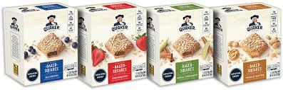 baked squares quaker oats