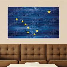 Alaska Flag Distressed Wood Vinyl Wall Decal Sticker Graphic Art 4 Sizes Ebay