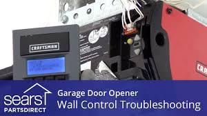 garage door opener doesn t work wall