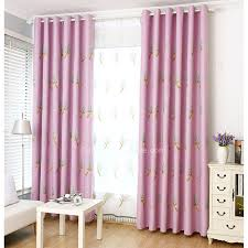 Pink Purple Linen Cotton Fabric Embroidered Botanical Kids Room Girls Curtains
