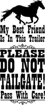 Large Horse Trailer Decal Window Sticker Equine Caution Do Not Tailgate Show Ebay