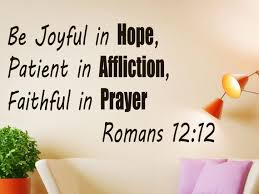 Bible Wall Decal Bible Quote Decor Romans 12 12 Be Joyful Etsy