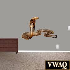 Cobra Snake Wall Decal Peel And Stick Wall Art Deadly Snake Etsy