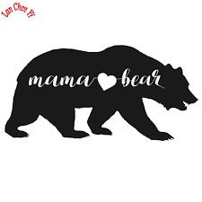 Car Refrigerator Store Jd071 Mama Bear Vinyl Decal Motorcycle Car Sticker For Window Bumper Laptop Black Silver