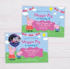 Peppa Pig Invitation – Flearn