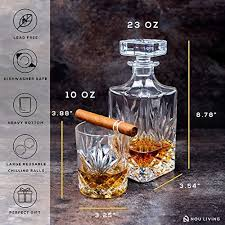 13 piece whiskey decanter and glass set