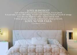 Love Never Fails Vinyl Wall Statement 1 Corinthians 13 4 8 Vinyl Scr117