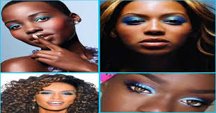 blue eye makeup for black women blue