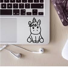 Baby Unicorn Decal Unicorn Car Decal Unicorn Laptop Decal Car Decal Journal Decal Unicorn Laptop Sticker Laptop Decal Glitter Vinyl Decal Custom Decals