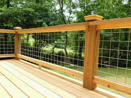 A Cost Conscious See Through Deck Railing Made With Livestock Panels The Handyman Plan Llc