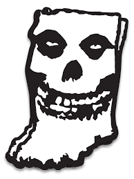 Hoosier Misfit Sticker United State Of Indiana