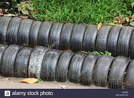 Auto Tires Fence Stock Photo Alamy