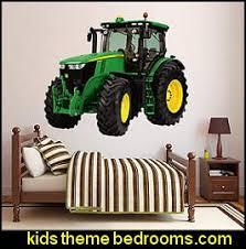 John Deere Farm Theme Bedrooms Tractor Theme Beds John Deere Bedding Farm Murals Country Farm Animal Stick Ups Baby Barnyard Nursery John Deere Bedroom Ideas John