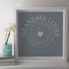 personalised grandma loves print by