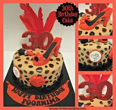 30th birthday cake leopard print cake