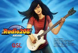 QSL FROM THE NEW DANISH MEDIUM WAVE STATION 'RADIO 208' – Hugo's ...
