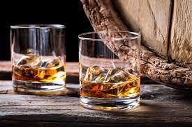 rum brandy scotch using a wooden barrel