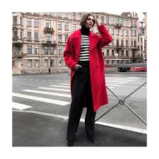 Красное шерстяное пальто / Red coat by Jana Segetti #janasegetti #fashion # style #shopping #coat #streetstyle #red | Fashion, Coat, Trench coat