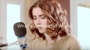 WHAT A WONDERFUL WORLD. - Louie Armstrong Cover by Abby Ward Chords -  Chordify