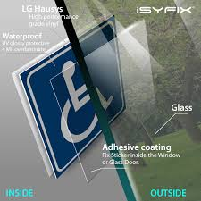 4 Pack 6x6 Inch Premium Self Adhesive Vinyl Disability Sticker Disable Wheelchair Sign Ada Compliant Handicap Signs Stickers Decal Symbol Laminated Indoor Outdoor Signs