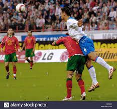 Partita di qualificazione del Campionato Mondiale di Calcio 2006, Russia  vs. Portogallo finisce in pareggio, 0-0 Foto stock - Alamy