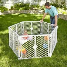 Baby Gate Play Yard Toddler Playpen For Outdoor Indoor Fence Portable 6 Panel Ebay