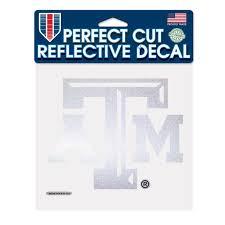 Texas A M Aggies Official Ncaa 6 Inch X 6 Inch Reflective Die Cut Car Decal By Wincraft Walmart Com Walmart Com