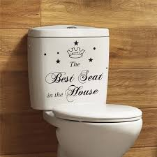The Best Seat In The House Vinyl Wall Stickers Toilet Decals Diy Quotes Home Decals Stickers Toilet Seat Toilet Seat Stickerseat Decal Aliexpress