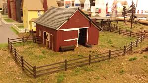 Whittemore Ho Scale Train Table Farm Layout Barn Fence Install June 2014 Model Trains Ho Train Layouts Model Train Table