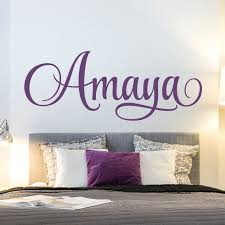 Personalized Girls Name Wall Decal Childrens Room Girls Etsy