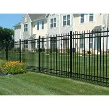 Jerith Washington 6 Ft X 6 Ft Aluminum Black Fence Section Rs72b101sn The Home Depot Aluminum Fence Fence Sections Backyard Oasis