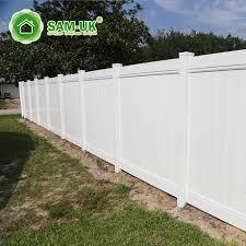 White Pvc Vinal Privary Cheap Fence