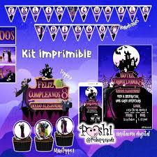 Decoracion Fiesta Halloween Kit Imprimible Invitacion Topper Bs
