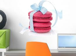 Amazon Com Wallmonkeys Red Macarons With Blue Wall Decal Peel And Stick Graphic 18 In W X 14 In H Wm205340 Home Kitchen