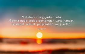 kata kata caption tentang matahari terbit sunrise yang penuh