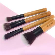 bamboo makeup brush set eco friendly