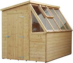 wooden garden potting shed greenhouse