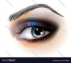 eye makeup royalty free vector image