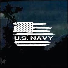 Us Navy Weathered American Flag Military Window Decal Stickers Custom Sticker Shop