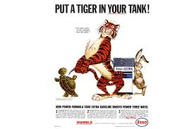 The History Of Advertising In Quite A Few Objects 43 Esso Tiger Tails