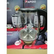 Ấm siêu tốc thủy tinh Rapido RK1818