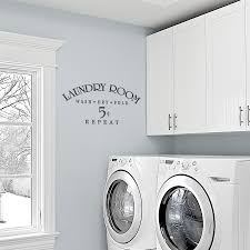 Laundry Room Wash Dry Fold Repeat Wall Decals