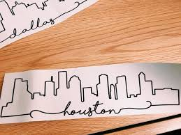 Houston Skyline Laptop Decal Sticker Etsy