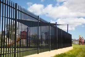 China 6ft Decorative Metal Backyard Fence Pressed Tubular Spear Security Fencing China Tubular Steel Fence And Tubular Fence Price