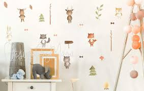 Amazon Com Woodland Animals Forest Animals Decals Jungle Friends Wall Decals Baby Room Decals Nursery Art Decor Baby Animals Fox Bear Raccoon Handmade