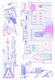 Disney Cinderella Princess Castle Wall Decal Cutout 31 X42