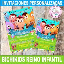 Bichikids Reino Infantil Diseno De Invitacion Imprimir 65 00