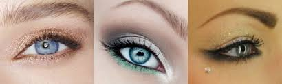 prom makeup blue eyes blue dress