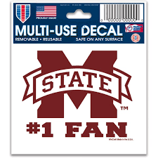 Mississippi State University Car Decals Decal Sets Mississippi State Bulldogs Car Decal Www Hailstatestore Com